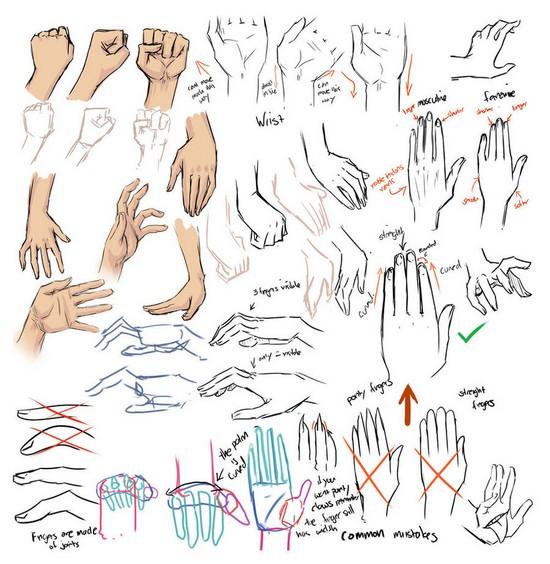 550x564 Drawing Hands Tips Art For Sariah Drawings
