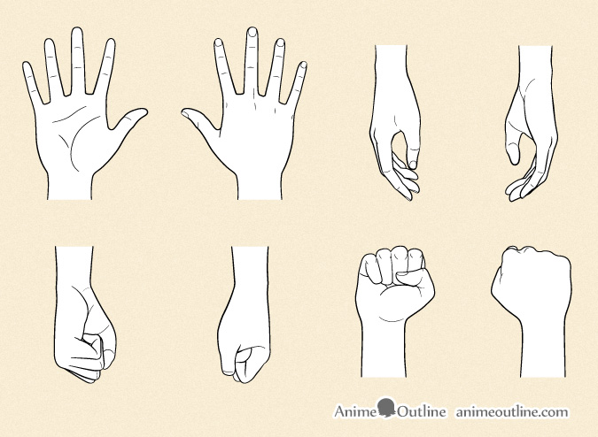 675x494 How To Draw Anime Hands Step By Step Anime Outline
