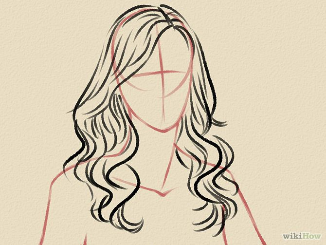 how to draw soft wavy hair