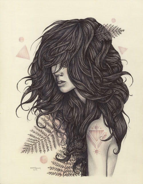 500x643 She Got Long Black Wavy Hair Liz Morrow Design