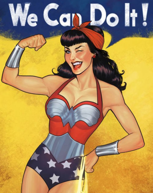 500x633 We Can Do It! Wonder Woman Wonder Woman, Woman