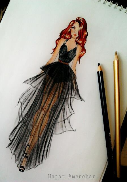 448x640 Drawing Fashion Shared By On We Heart It
