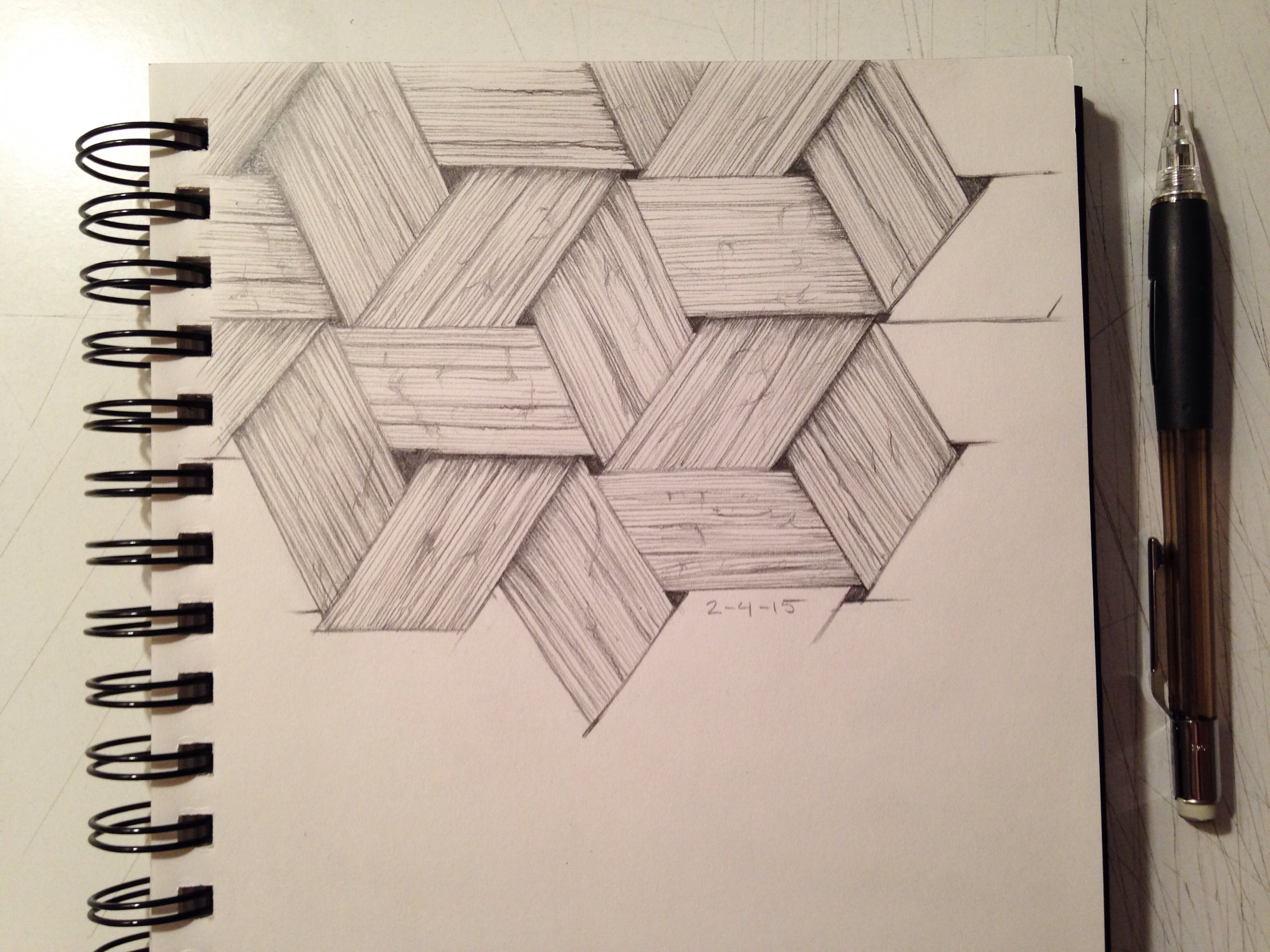 3264x2448 Basket Weave Texture Drawing