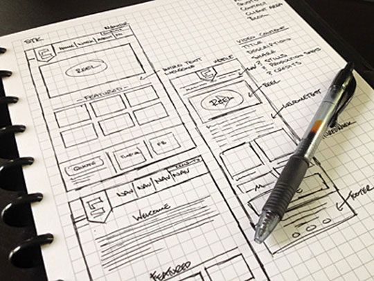 540x405 30 Great Examples Of Web Design Sketches Sketches, Website