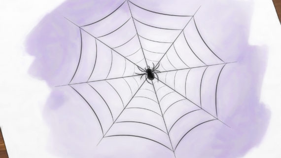 570x320 Simple Spider Web Drawing Drawing Of A Spider Web