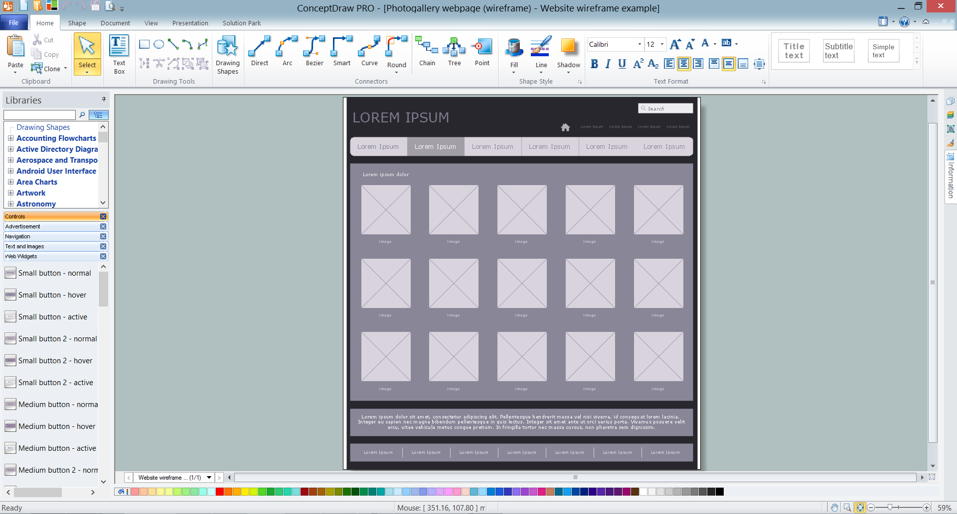 1920x1033 Wireframe Examples