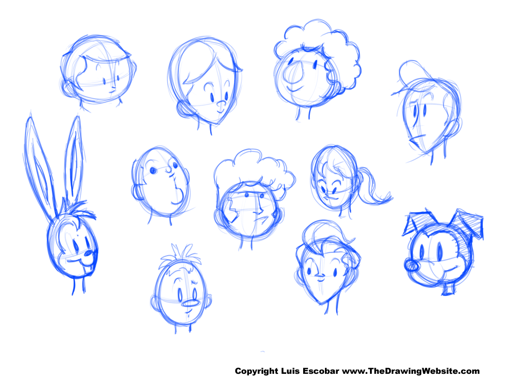 1049x791 Head Drawing Shapes Example Heads The Drawing Website