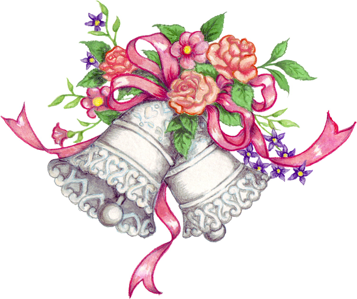 Wedding Bell Drawing At Getdrawings Free For Personal Use