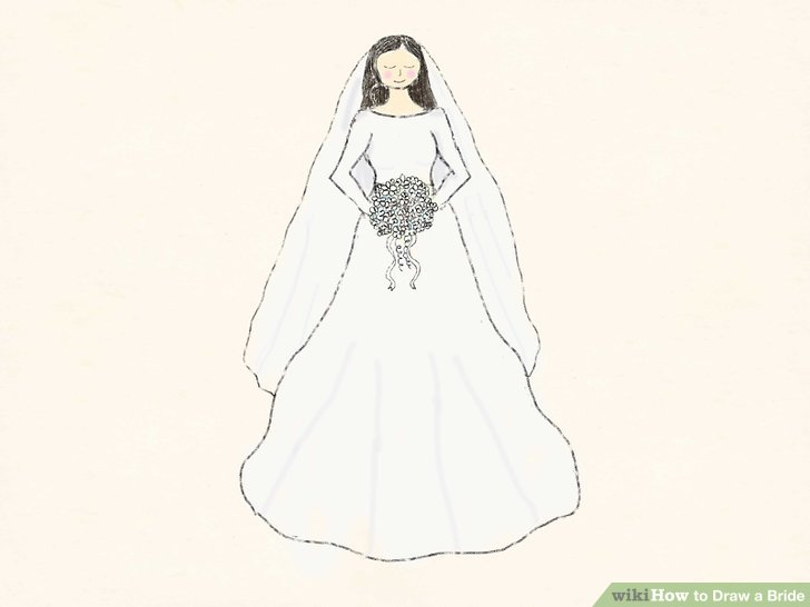 728x546 How To Draw A Bride 10 Steps (With Pictures)