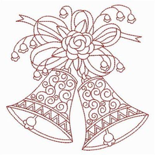 500x500 Wedding Bells Embroidery Design Wedding Bells, Embroidery