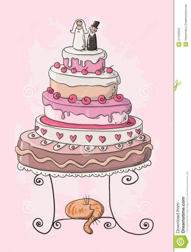 394x520 Cartoon Drawings Of Wedding Cakes Melitafiore