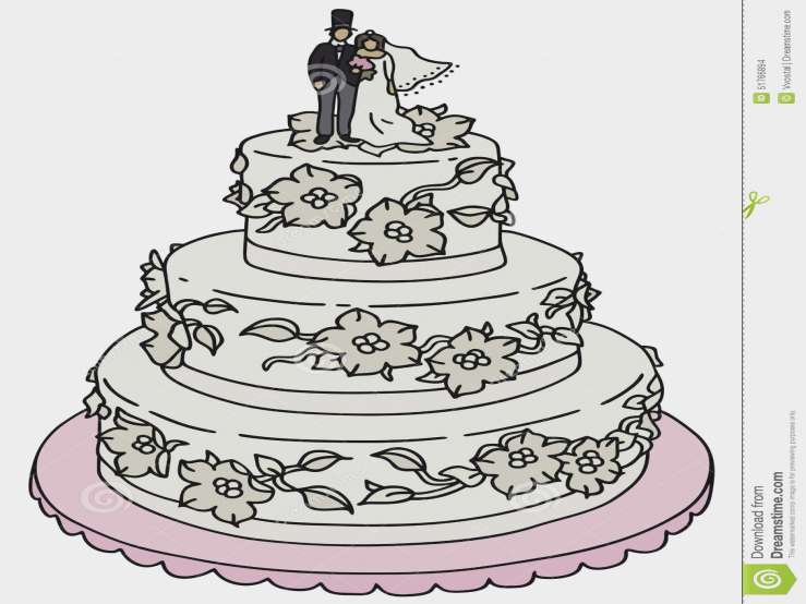 739x554 Engaging Wedding Cake Drawings How To Draw Step 0 Coloring Pages