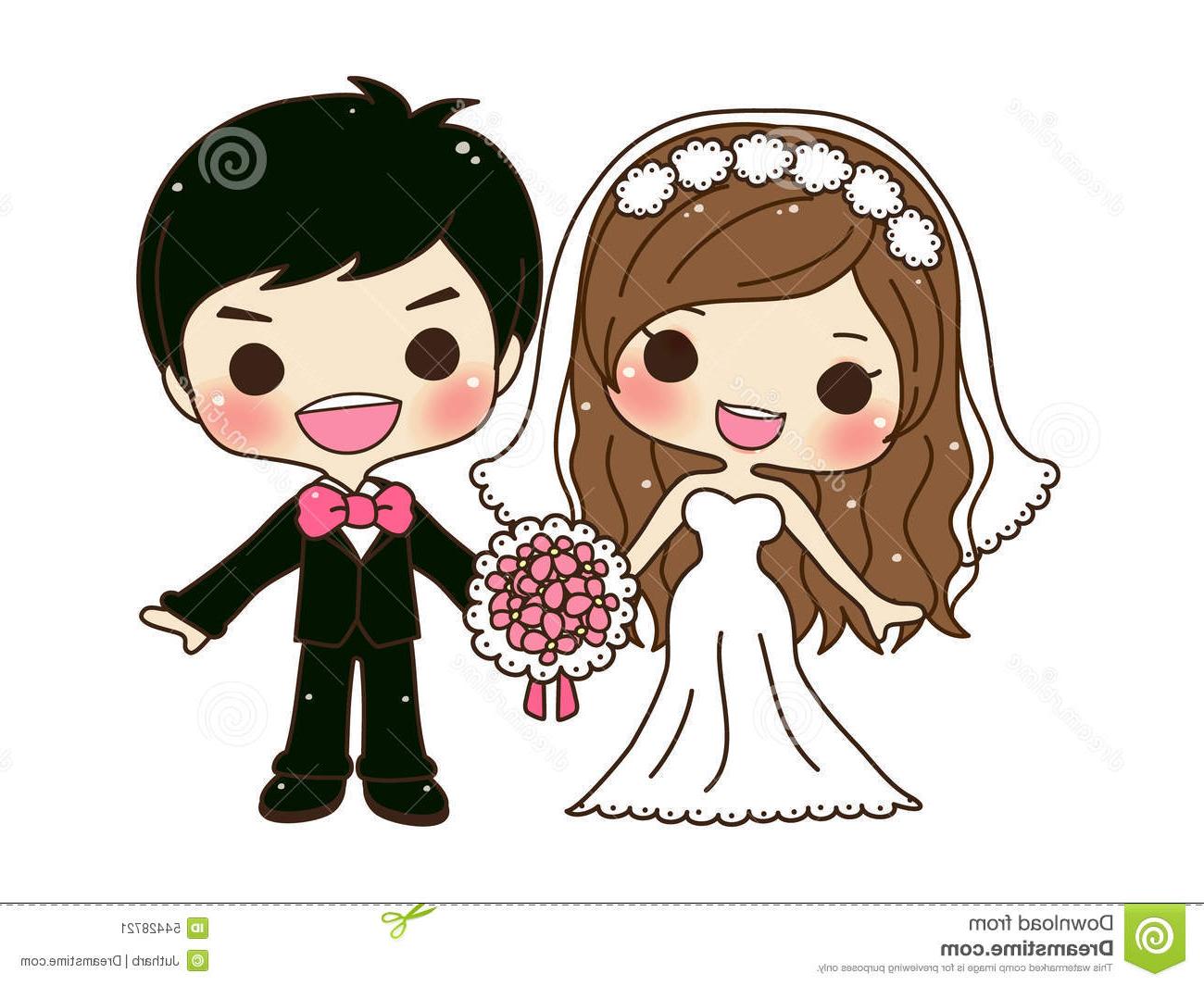 1300x1065 Cute Couple Wedding Stock Vector