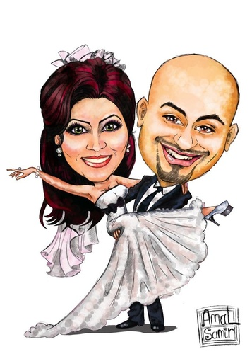 357x500 Wedding By Amal Samir Love Cartoon Toonpool