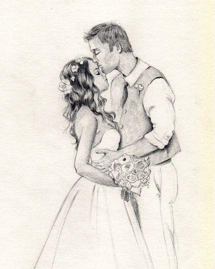 432x540 Custom Couple Portrait , Wedding Portrait , Custom Wedding