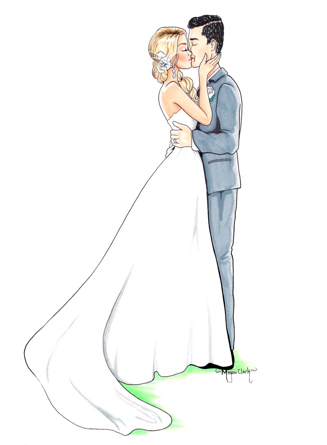 1104x1500 Custom Wedding Illustration Custom Wedding by MClarkIllustration