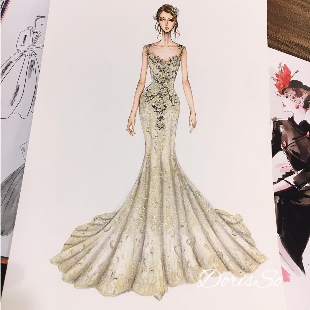 Wedding Dress Drawing At GetDrawings.com
