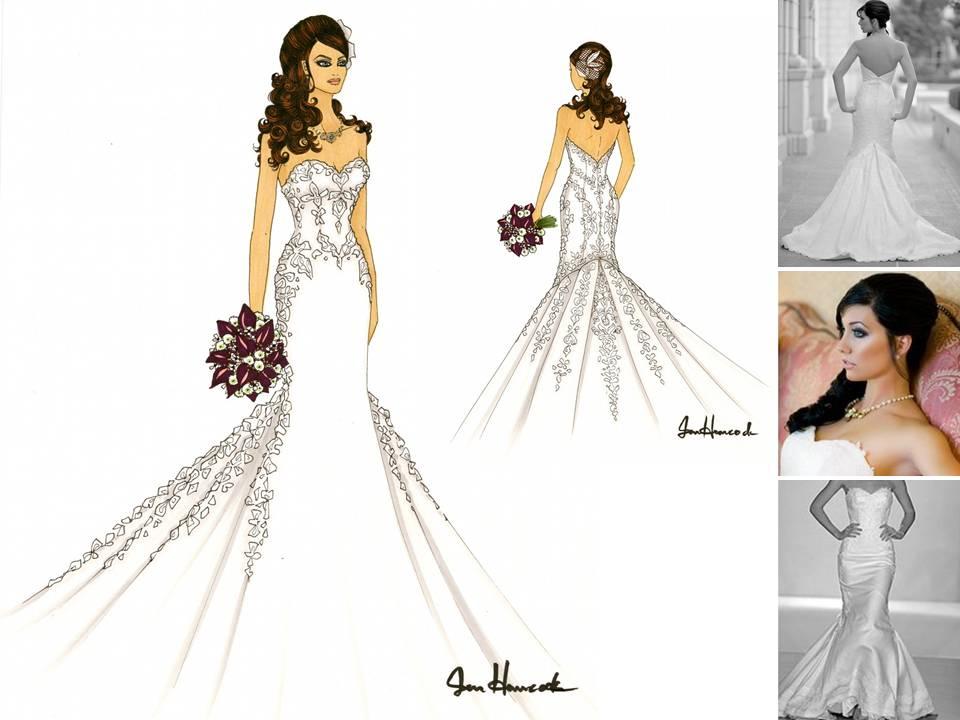 Wedding Dress Sketch Gift: Wedding Dress Drawing At GetDrawings.com