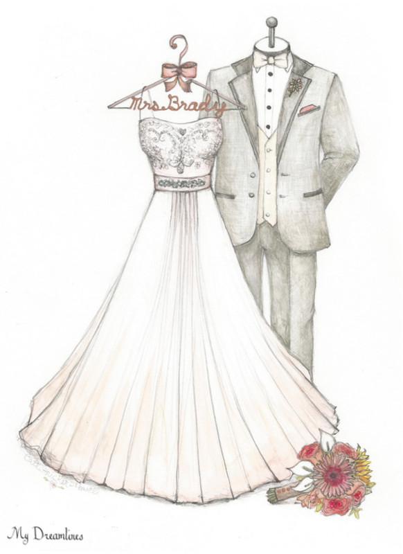 how to draw indian wedding dress