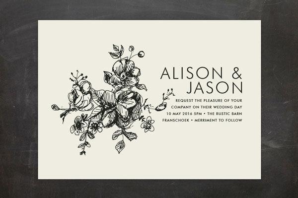 600x399 Hand Drawn Wedding Invitations Mywedding
