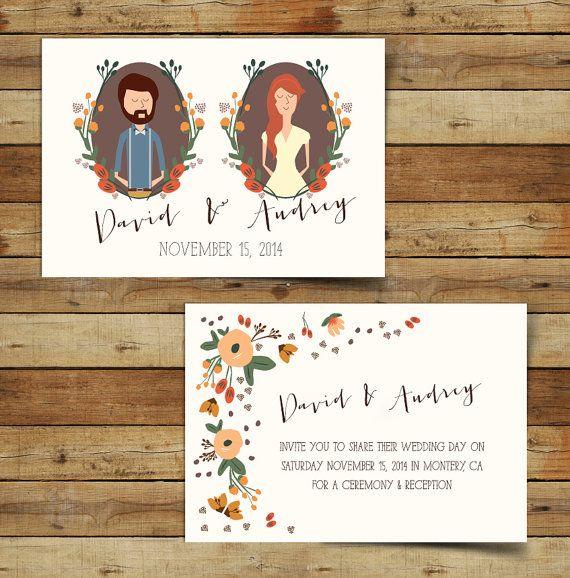 570x578 Printable Wedding Invites