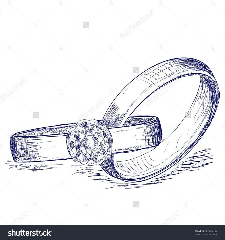 960x1024 Wedding Ring Wedding Rings Drawing Wedding Rings How To Draw
