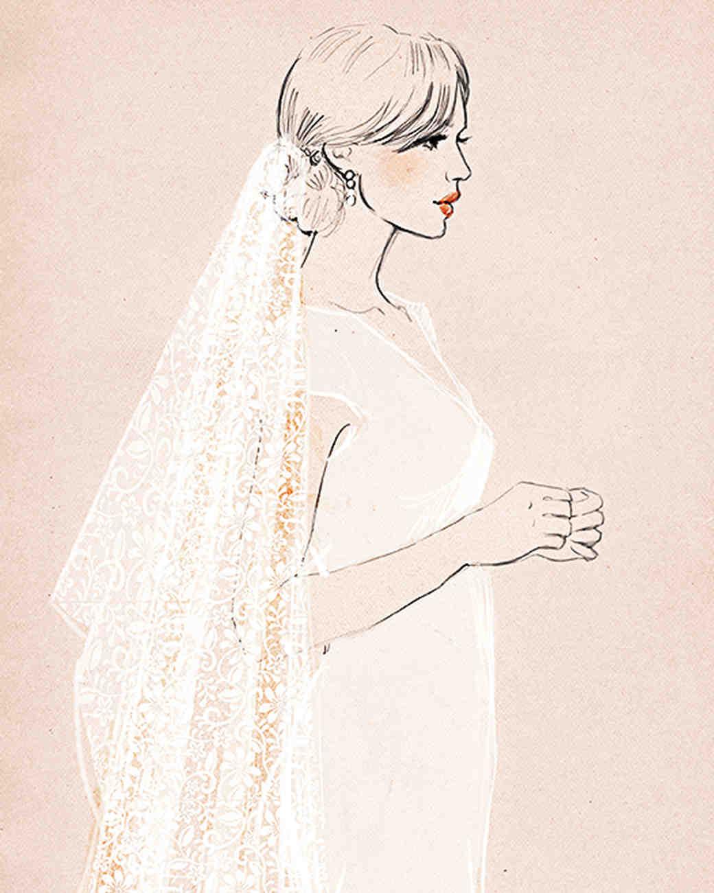 1040x1301 8 Types Of Veils To Know Now Martha Stewart Weddings