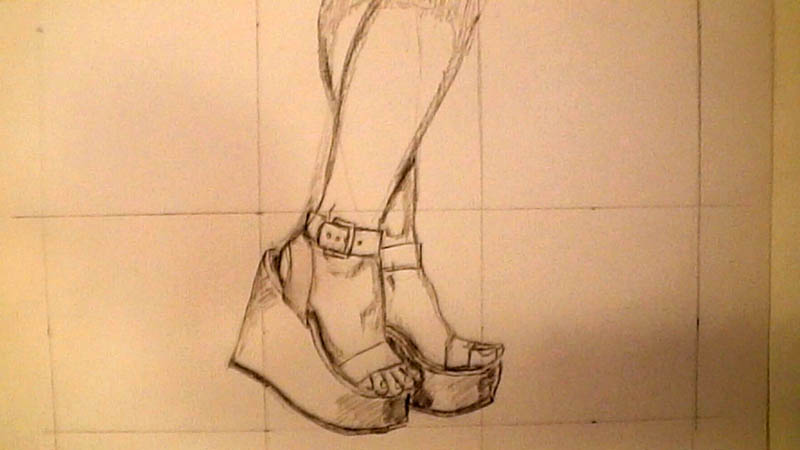 800x450 How To Draw Wedge High Heel Shoes Let's Draw People