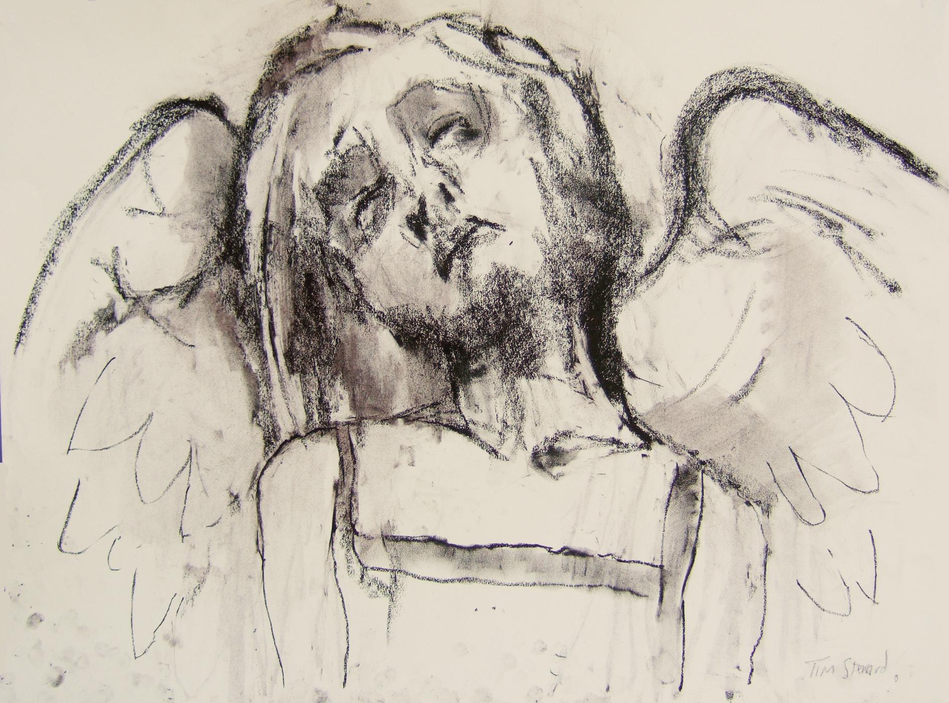 1889x1400 Tim Steward Figurative Drawing Weeping Angel