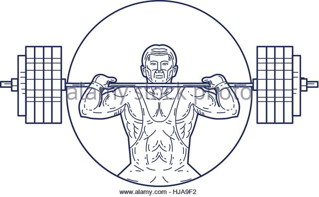 640x395 Strongman Lifting Weight Drawing Stock Photos Amp Strongman Lifting