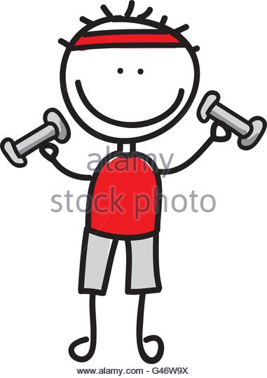 381x540 Drawing Boy Weight Lifting Isolated Stock Photos Amp Drawing Boy