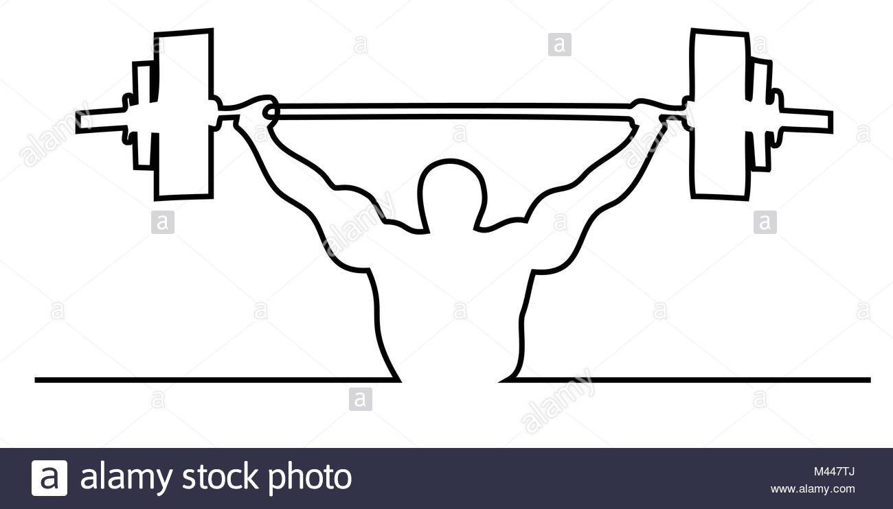 1300x742 Drawing Man Weight Lifter Sport Stock Photos Amp Drawing Man Weight