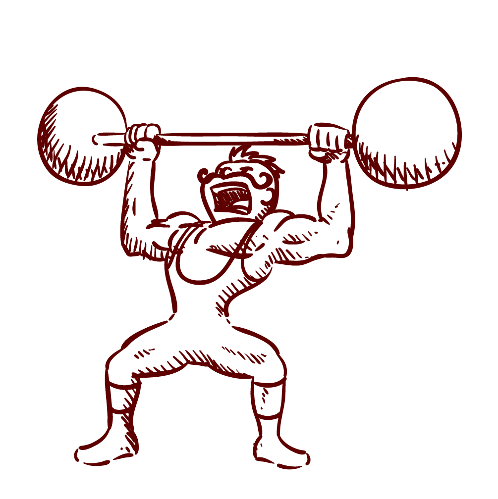 1005x1008 Drawing Olympic Weightlifting Weight Training