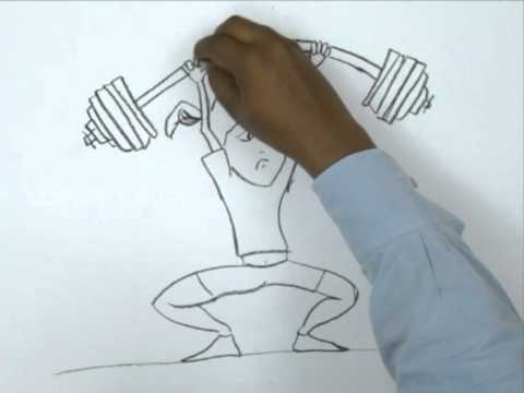 480x360 How To Draw A Girl Weight Lifting