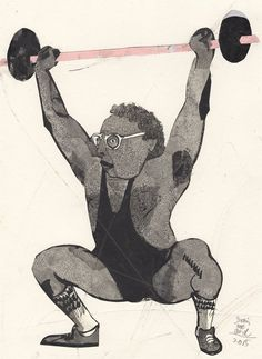 236x323 The Weight Lifter My Drawings. Weight Lifters And Draw