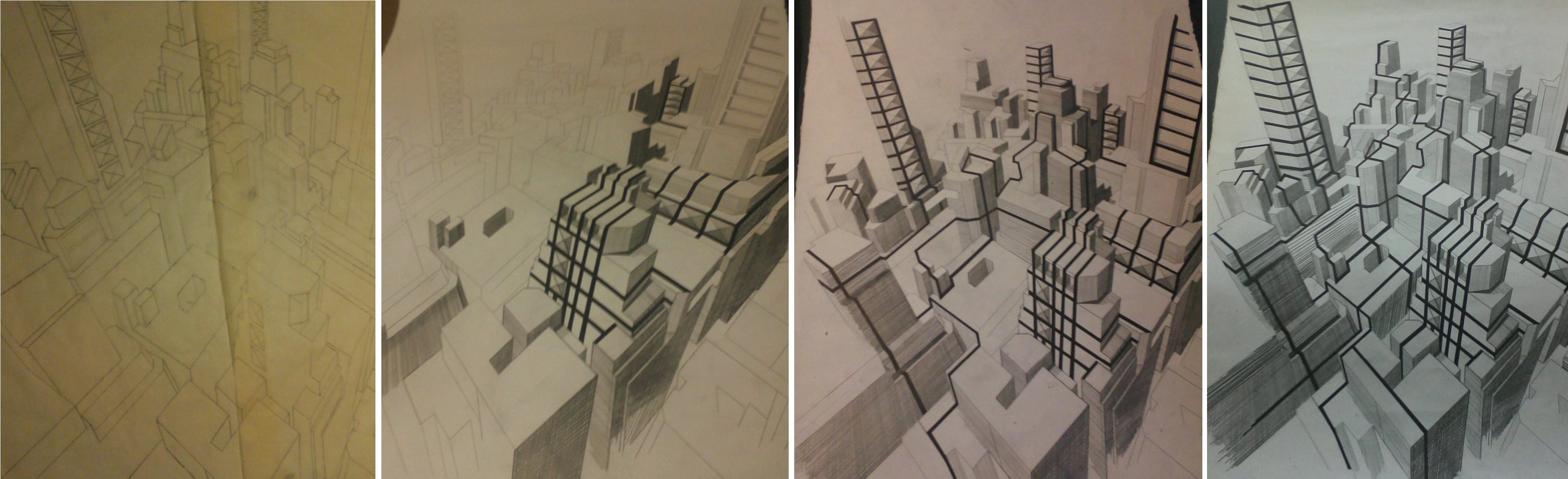 3688x1128 City Scale Drawing My Drawings Drawings