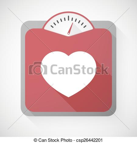 450x470 Illustration Of A Weight Scale With A Heart Vector Clipart