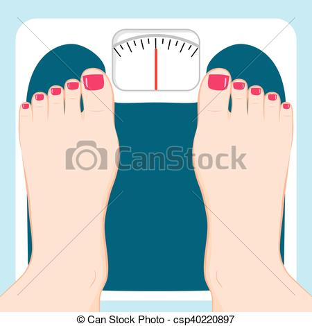 450x470 Weight Scale Feet. Close Up Of Female Feet Standing On Eps