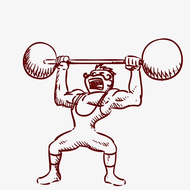 650x651 Hand Drawn Vector Weightlifting, Hand Painted Weightlifting