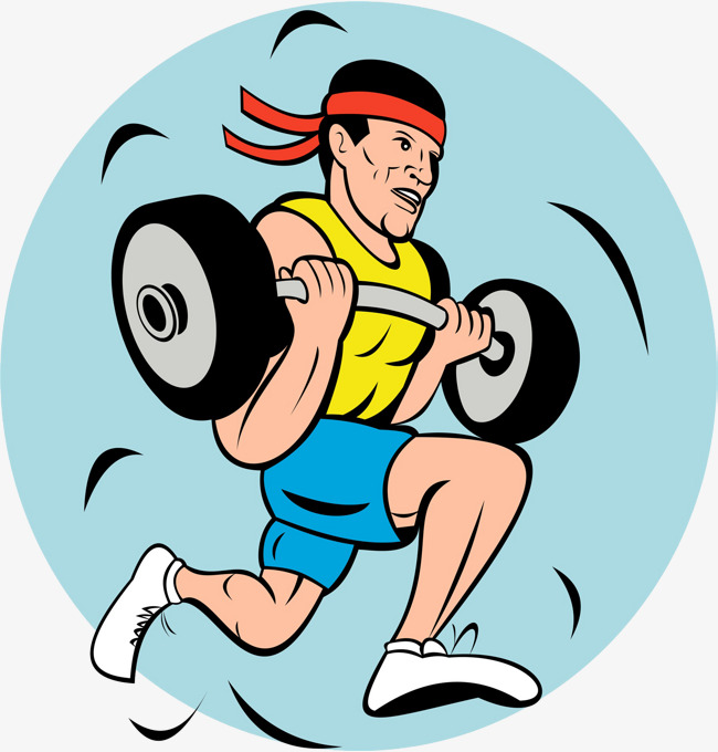 650x680 Weightlifter, Cartoon Hand Drawing, Weightlifting, Barbell Png