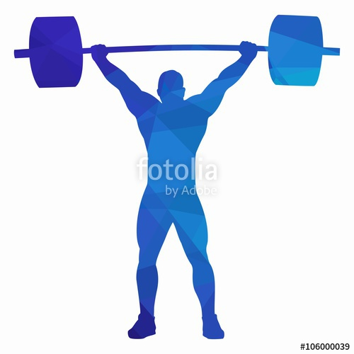 500x500 Silhouette Of Weightlifter , Vector Drawing Stock Image