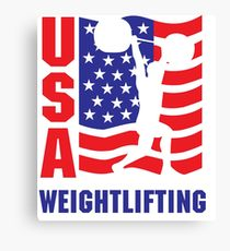 210x230 Weightlifting Drawing Canvas Prints Redbubble