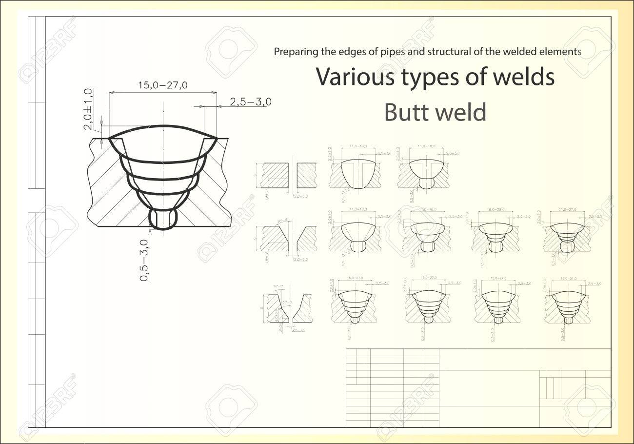 Welding Drawing At Free For Personal Use Joint Diagram 1300x910 Various Types Of Connections Royalty Cliparts