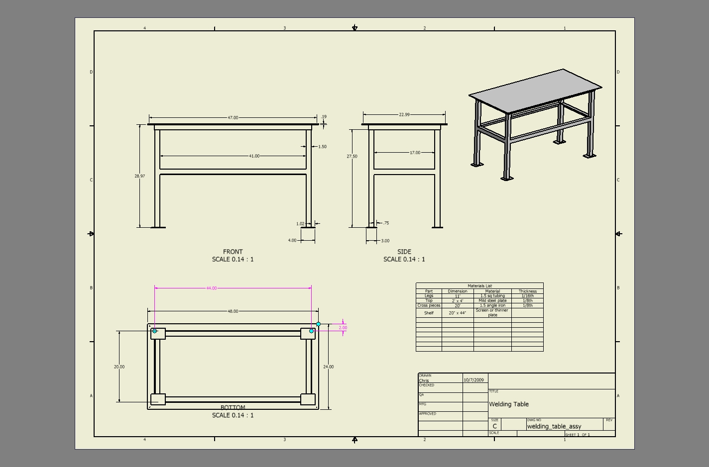 Welding Drawing At Free For Personal Use Cart Diagram 1424x939 My Open Source Projects Table Construction