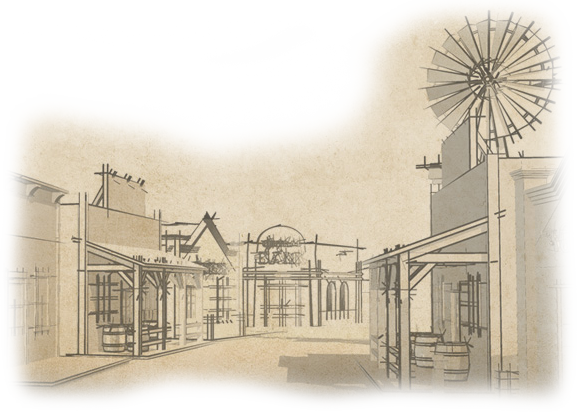 Line Drawing Wiki : Western town drawing at getdrawings free for personal use