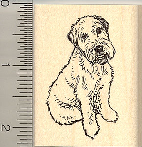 290x300 Wheaten Terrier Rubber Stamps