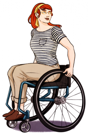 355x550 Illustrating Wheelchairs Drawings, Characters And Illustrations