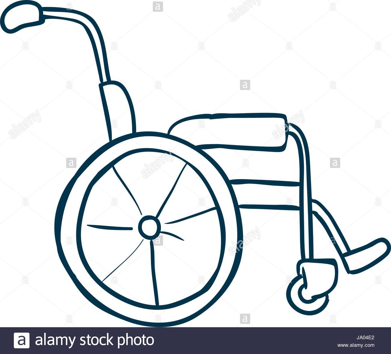 1300x1176 Wheelchair Isolated Draw Stock Vector Art Amp Illustration, Vector
