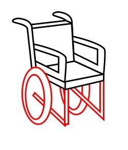 250x293 A Cartoon Wheelchair