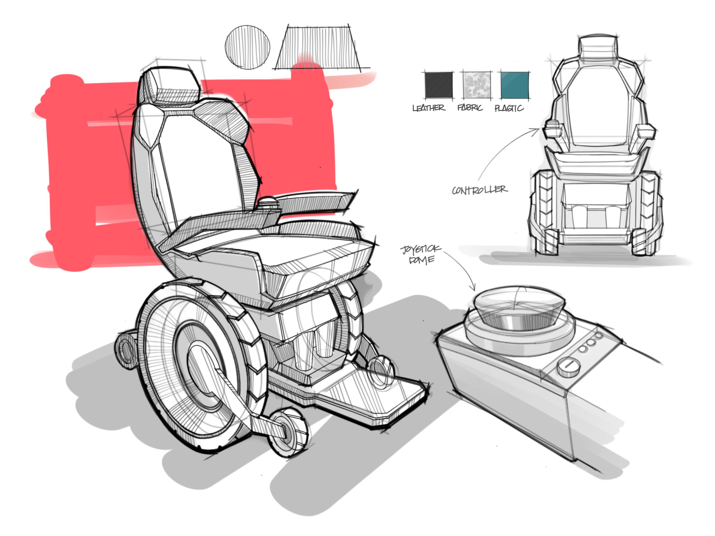 2732x2048 Wheelchair Sketch Industrial Design Ipad Pro Procreate Drawing